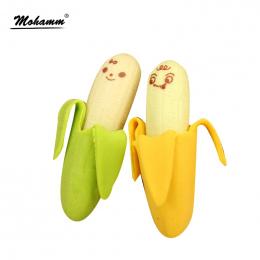 2 sztuk/partia Kawaii Śliczne Śliczne Banana Gumka Owoców Gumy Ołówek Nowość Dla Dzieci Szkolne Studentów Biurowych