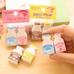 2 sztuk/paczka kawaii owoce mleczna mini guma gumka kreatywne papiernicze artykuły szkolne papelaria prezent dla dzieci