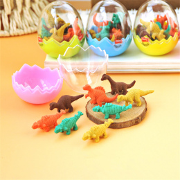 8 sztuk/partia Mini Śliczne Kawaii TPR Gumka Gumka Pień Dinozaur Dla Dzieci Prezent Koreański Biurowe Studenckie 874