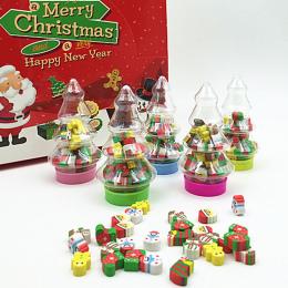 Prezent Na boże narodzenie Santa Drzewa Mini Gumka Kawaii Projektant Studenci Papiernicze Szkolne Papelaria Prezent Dla Dzieci R