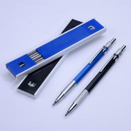 Metal Uchwyt Redakcyjnych Rysunek Ołówkiem 2B Ołówki Mechaniczne 2.0mm Ołów Zestaw z 12 Sztuk Prowadzi Pisanie Szkolne Prezenty