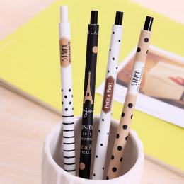 4 Sztuk/partia 0.5mm Śliczne Kawaii Plastikowe Ołówek Piękny Kropki Wieży Automatyczny Długopis Dla Kid Szkolne Darmowa Wysyłka