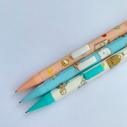 J34 3X Śliczne Sumikko Gurashi Naciśnij Automatyczne Mechaniczne Ołówek Z Gumką Szkoły Biurowymi Uczeń Piśmienne 0.5mm