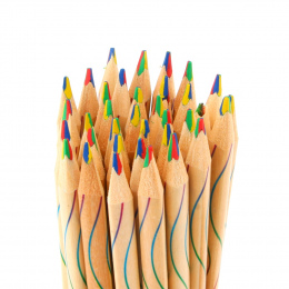 10 sztuk/partia DIY Śliczne Kawaii Drewniane Kredka Drewna Rainbow Kolor Ołówek dla Kid Szkoła Graffiti Rysunek Malarstwo