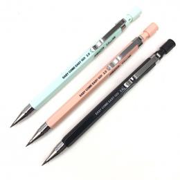 1 sztuk Ołówek Mechaniczny, 2.0mm Ołowiu Uzupełniania, czarny/Niebieski/Różowy Beczki Ołówek Automatyczny dla Egzaminy Rysunek