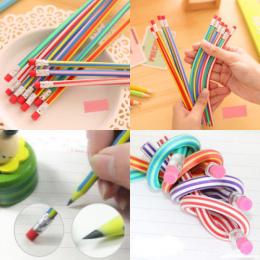 5 sztuk/partia Oferta Specjalna Staedtler Prismacolor Kolorowe Magia Bendy Miękkie Elastyczne Ołówek Z Gumką Dla Dzieci Pisanie