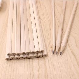 10 Sztuk/partia Przyjazne Dla Środowiska Naturalnego Drewna Ołówek HB Puste Sześciokątne nietoksyczny Standardowy Ołówek Piśmien