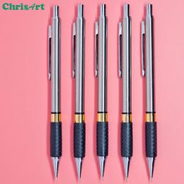 0.5 0.7 0.9mm Stali Nierdzewnej Mechaniczne Ołówek Metalowe i Plastikowe Ołowiu Uchwyt Do Szkoła Papiernicze Rysunek Ołówkiem