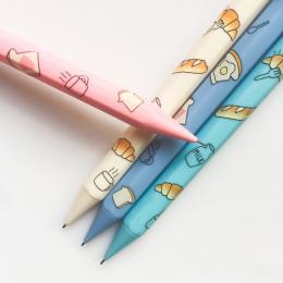 4X K46 Chleb Mleka Prasy Mechaniczne Ołówek Pisania Szkoły Biurowymi Uczeń Piśmienne Ołówek Automatyczny 0.5mm