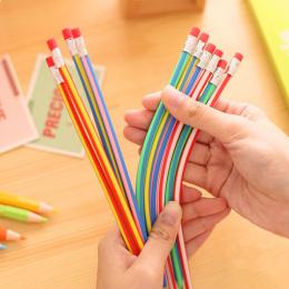 5 sztuk/partia Kolorowe Magia Bendy Miękkie Elastyczne Ołówek Z Gumką Papiernicze Uczeń Kolorowe Ołówki Szkoła Biurowy