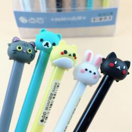 0.5mm Śliczne Kawaii Królik Kot Ołówek Cartoon Zwierząt Automatyczne Długopisy Koreański Biurowe Studenckie 2149