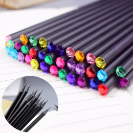 12 Sztuk/zestaw DIY Diament Kolor Ołówek Piśmiennicze Ołówek Hb Przedmioty Rysunek Ogrodnicze Śliczne Lipa Sekretariacie szkoły