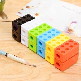 Cute Cartoon Kawaii Zabawki Cegły Plastikowa Temperówka Dla Dzieci Kreatywne Pozycja Prezent Koreański Biurowe Studenckie 755
