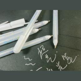 Japonia Importowane Sakura Galaretki Rolki 0.4mm Biały Żel Pióra Zaznacz liniowej dla Art Marker Projekt Komiks/Manga Malowanie