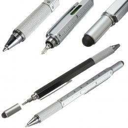 6 SZTUK/PARTIA GENKKY Długopis Handy Tech Poziomica Długopis Śrubokręt Ruler Narzędzie Wielofunkcyjne