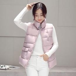 Nowy 2017 jesień i zima kobiet bawełna kamizelka biała kaczka dół miękkie ciepłe znosić marka kamizelka kamizelka plus rozmiar 3