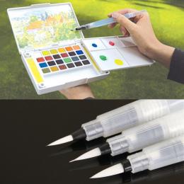 Wielokrotnego napełniania 1 Pc Wody Szczotka Kaligrafia Pióra Atramentu Dla Wody Kolor Malarstwo Ilustracji Pióro Biurowych