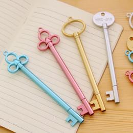 1 sztuk 0.38mm Nowy Korea Kreatywny Uczeń Piśmienne Pióro Metaliczny Retro Klucz Długopis Żelowy Dla Studentów Dzieci Pisanie Og