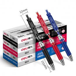 Deli szczęście torba słodkie losowe 3 sztuk długopis żelowy do szkoły biurowe materiały piśmienne czerwony niebieski czarny atra