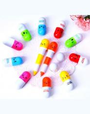 10 sztuk/partia Cartoon Kolorowe Elastyczne Długopis Kapsułka pigułka pióro nowy Koreański Piśmienne Kreatywny Prezent Szkolne D