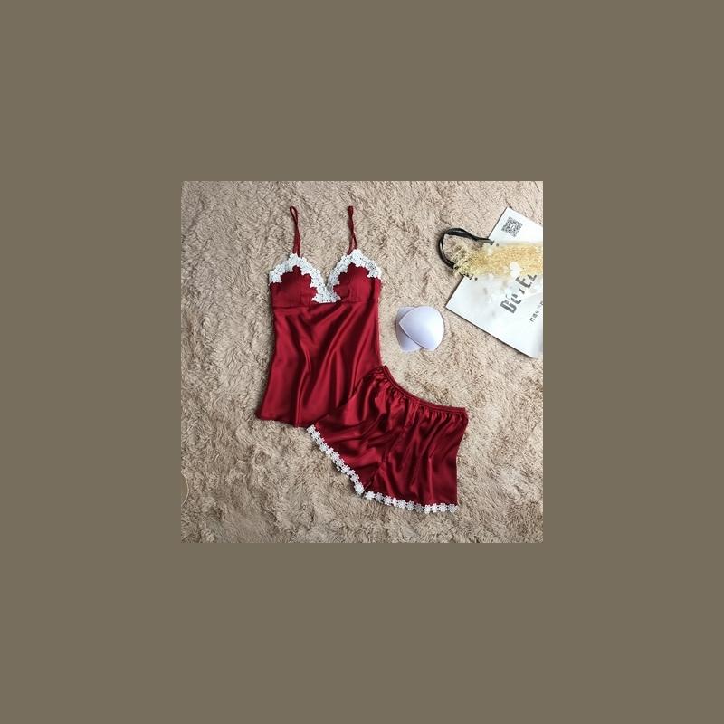 887767ec37b425 ... Fiklyc marki piżamy zestawy dla kobiet fashion lace satin lato bielizna  nocna seksowna bielizna piżamy piżamy ...