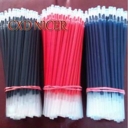 100 sztuk/partia Pen Refill Biuro Podpis Pręty Dla Uchwyty 0.5mm Czerwony Niebieski Czarny Wkładem Biurowe I Szkolne