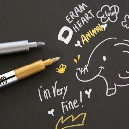 Nowy Kreatywny biurowe Metal kolor rzemiosło długopis złoty i srebrny farby Kredki długopis 1.5mm długopis