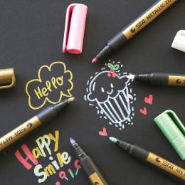 1 pc Igła Rysunek Metal kolor craft pen złoty i srebrny farby pióro Długopis pastel