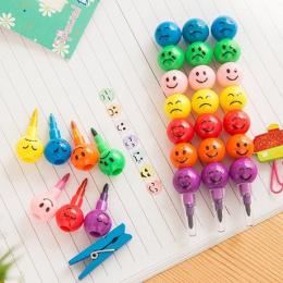7 Kolorów Kredki Gorąca Sprzedaż Kreatywny Cukru Powlekane Haws Cartoon Graffiti Buźkę Długopis Biurowe Prezenty Dla Dzieci Rysu