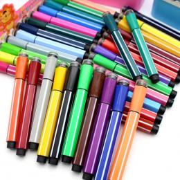1 pc Cartoon 36 Kolory Prać Akwarela Marker Długopisy Z Znaczki Śliczne Biurowe Szkoły Dostaw Sztuki Dla Majsterkowiczów Prezent