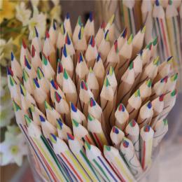 10 Sztuk/zestaw czterech kolorów z rdzenia Drewna ołówek ołówek Dostaw Sztuki Uczeń Szkoły Papeterii dzieci malarstwo pen
