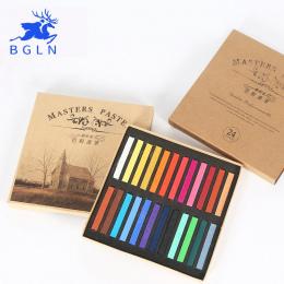 Marie's Malarstwo Pastelowe Kredki Miękkiej Suchej 12/24/36/48 Kolory/Zestaw Art Drawing Set Kolor kreda Pastel Pędzla Papiernic