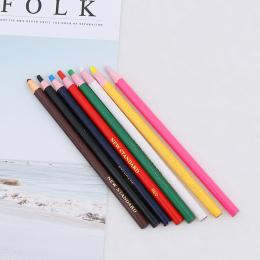 6 Sztuk/paczka odkleić Smar Ołówek Kolorowe Pastel Marker Pen Rolki Papieru Wosku Ołówek Do Metalu Szkła Tkaniny