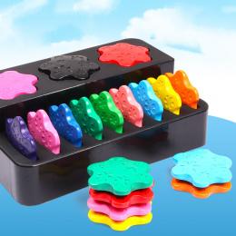 12 Kolorów nietoksyczne wax Kreatywny malarstwo kredki kształt Pierścienia dzieci prezenty Na Początku puzzle niemowląt zabawki