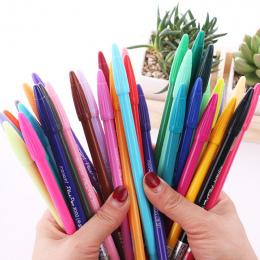 Kawaii Plastikowe Marker Długopis Kolorowe Akwarela Długopis Dla Manga Malarstwo Rysunek Biuro Art Supplies Liner Śliczne Kreaty