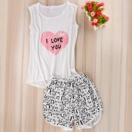 Kobiety Seksowna Bielizna cute cartoon Koszulki + Szorty Bielizna Nocna Zestaw Piżamy Piżamy Damskie Piżamy Piżamy Zestaw Bez Rę