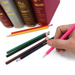 3 Sztuk/zestaw odkleić Smar Ołówek Kolorowe Pastel Marker Pen Rolki Papieru Wosku Ołówek Do Metalu Szkła Tkaniny Dostaw Sztuki