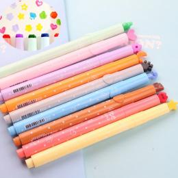 DIY Śliczne Akwarela Długopis Cartoon Kolorowe Markery Z Stemple Dla Dzieci Rysunek Manga Malarstwo Kawaii Biurowe Dostaw Sztuki