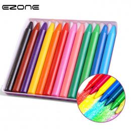 EZONE 12 Cukierkowe Kolory Pastel Okrągłe Plastikowe nietoksyczny Nie brudne ręce Kredki Dla Dzieci Malarstwo Rysunek Szkoły biu