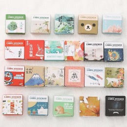 40 Sztuk/pudło Mini Cartoon Naklejki Dekoracje Kalkomania Papieru DIY Album Scrapbooking Materiał Escol Seal Naklejka Kawaii Biu