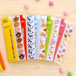 Mini Piękny Kawaii Cartoon Zwierząt Panda Kot Memo Pad Sticky Notes Memo Notebook Papiernicze Szkolne Uwaga Papieru Naklejki