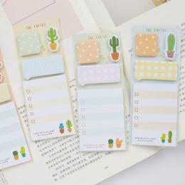 NOVERTY Kaktus Śliczne naklejki kawaii samoprzylepne karteczki biurowe planner notatnik śliczne papeleria notatnik kij 01945