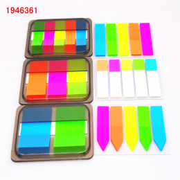 2018 kolor Fluorescencji Samoprzylepne Dodaj Do Ulubionych Punkt It Marker Memo Memo Pad Sticky Notes Naklejki Papieru Biuro Szk