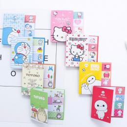 Hello Kitty Totoro Doraemon Baymax Naklejki kawaii Samoprzylepne karteczki biurowe planner notatnik śliczne papeleri 01963