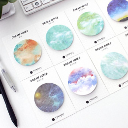 Naturalny Sen Serii Samoprzylepne Memo Pad Sticky Notes Zakładka Szkoły Biurowymi