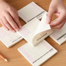 Śliczne Kawaii Tygodnik Miesięczne Pracy Dokibook Agenda Planner Książki Pamiętnik Dla Dzieci Szkolne Darmowa Wysyłka