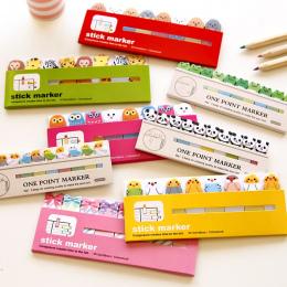 Kawaii Japońskiej Post It Scrapbooking Naklejki Notatki Notatnik Szkolne Materiały Biurowe Papiernicze Stronie Flagi Dla Dzieci