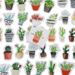 45 sztuk/partia Cactus Mini Papieru Naklejki Dekoracje DIY Ablum Pamiętnik Scrapbooking Naklejki Etykiety Kawaii Biurowe