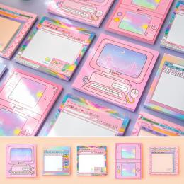 Twórczy gra komputerowa maszyna modelowanie Karteczki Memo Memo Pad Różowy dziewczyna serce N Razy Zakładki Prezent Piśmienne No