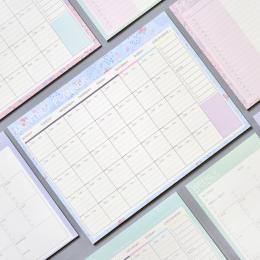 Piękny Kwiatowy Miesięczne Pad 20 Arkuszy Papieru 21*28.5 cm DIY Miesięczny Planner Agenda Biurko Prezent Szkolne Materiały Biur